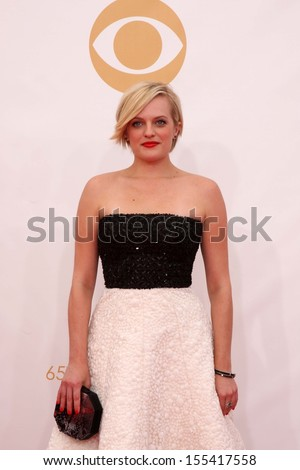 LOS ANGELES - SEP 22:  Elisabeth Moss at the  at Nokia Theater on September 22, 2013 in Los Angeles, CA - stock photo