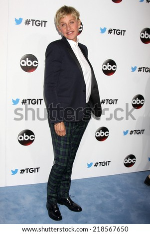 LOS ANGELES - SEP 20:  Ellen DeGeneres at the TGIT Premiere Event for Grey's Anatomy, Scandal, How to Get Away With Murder at Palihouse on September 20, 2014 in West Hollywood, CA - stock photo