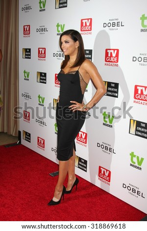 LOS ANGELES - SEP 18:  Eva Longoria at the TV Industry Advocacy Awards Gala at the Sunset Tower Hotel on September 18, 2015 in West Hollywood, CA - stock photo