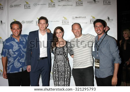 LOS ANGELES - SEP 25:  Film Festival Guests/Participants at the Catalina Film Festival Friday Evening Gala at the Avalon Theater on September 25, 2015 in Avalon, CA
