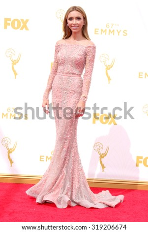 LOS ANGELES - SEP 20:  Giuliana Rancic at the Primetime Emmy Awards Arrivals at the Microsoft Theater on September 20, 2015 in Los Angeles, CA - stock photo