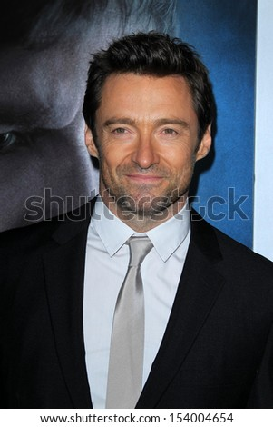 "LOS ANGELES - SEP 12:  Hugh Jackman at the ""Prisoners"" World Premiere at Academy of Motion Picture Arts and Sciences on September 12, 2013 in Beverly Hills, CA - stock photo"