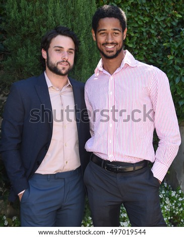 LOS ANGELES - SEP 25:  Jack Falahee and Alfred Enoch arrives to the The Rape Foundation Annual Brunch on September 25, 2016 in Hollywood, CA