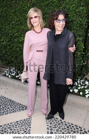 LOS ANGELES - SEP 28:  Jane Fonda, Lily Tomlin at the The Rape Foundation's Annual Brunch at Private Location on September 28, 2014 in Beverly Hills, CA - stock photo