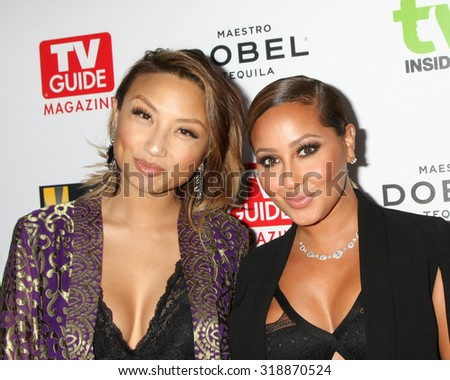 LOS ANGELES - SEP 18:  Jeannie Mai, Adrienne Bailon at the TV Industry Advocacy Awards Gala at the Sunset Tower Hotel on September 18, 2015 in West Hollywood, CA - stock photo