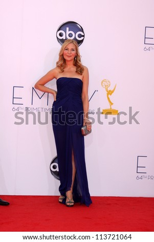 LOS ANGELES - SEP 23:  Jennifer Westfeldt arrives at the 2012 Emmy Awards at Nokia Theater on September 23, 2012 in Los Angeles, CA - stock photo