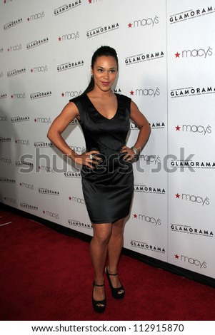LOS ANGELES - SEP 7:  Jessica Camacho arrives at the Macy's Passport 30th Glamorama at Orpheum Theater on September 7, 2012 in Los Angeles, CA
