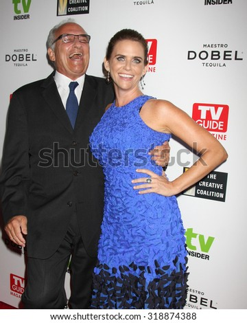 LOS ANGELES - SEP 18:  John Landecker, Amy Landecker at the TV Industry Advocacy Awards Gala at the Sunset Tower Hotel on September 18, 2015 in West Hollywood, CA - stock photo