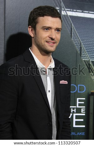LOS ANGELES - SEP 19: Justin Timberlake at the Premiere of 'Trouble With The Curve' on September 19, 2012 in Los Angeles, California