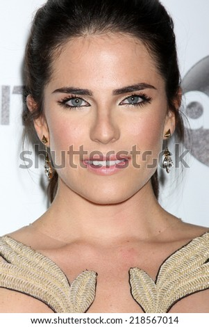 LOS ANGELES - SEP 20:  Karla Souza at the TGIT Premiere Event for Grey's Anatomy, Scandal, How to Get Away With Murder at Palihouse on September 20, 2014 in West Hollywood, CA