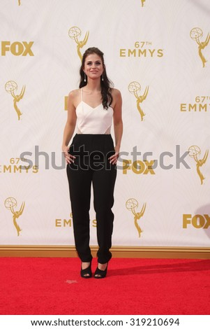 LOS ANGELES - SEP 20:  Kelsey Reinhardt at the Primetime Emmy Awards Arrivals at the Microsoft Theater on September 20, 2015 in Los Angeles, CA - stock photo