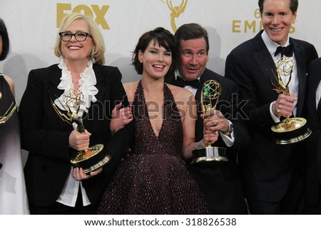 LOS ANGELES - SEP 20:  Lena Headey, Game of Thrones at the Primetime Emmy Awards Press Room at the Microsoft Theater on September 20, 2015 in Los Angeles, CA - stock photo