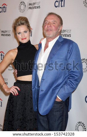 LOS ANGELES - SEP 10:  Maggie Lawson, James Caan at the PaleyFest Previews:  Fall TV ABC  at Paley Center for Media on September 10, 2013 in Beverly Hills, CA - stock photo