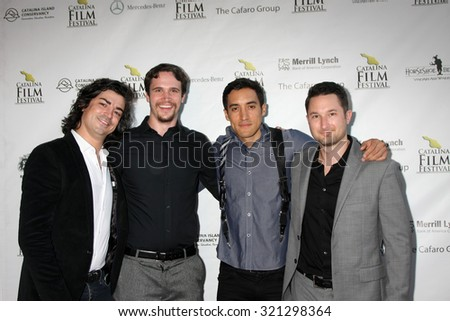 LOS ANGELES - SEP 25:  Michael J Marasco, Eric Jordan Baker, Keahu Kahuanui, Quinn P Smith at the Catalina Film Festival Friday Evening Gala at the Avalon Theater on September 25, 2015 in Avalon, CA - stock photo