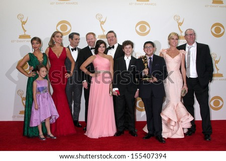 LOS ANGELES - SEP 22:  Modern Family Cast at the 65th Emmy Awards - Press Room at Nokia Theater on September 22, 2013 in Los Angeles, CA - stock photo
