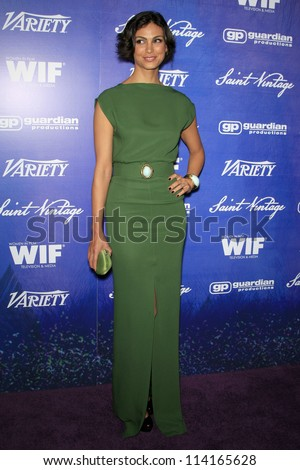 LOS ANGELES - SEP 21:  Morena Baccarin arrives at the Variety and Women in Film Pre-Emmy Event at Scarpetta on September 21, 2012 in Beverly Hills, CA - stock photo