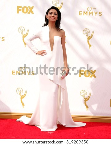 LOS ANGELES - SEP 20:  Nazanin Boniadi at the Primetime Emmy Awards Arrivals at the Microsoft Theater on September 20, 2015 in Los Angeles, CA - stock photo