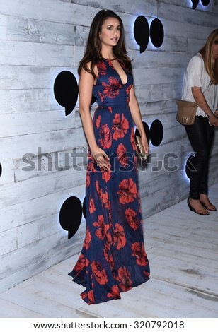 LOS ANGELES - SEP 24:  Nina Dobrev arrives to the Go90 Sneak Peek  on September 24, 2015 in Hollywood, CA.