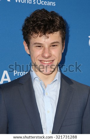 "LOS ANGELES - SEP 28:  Nolan Gould at the ""Concert for Our Oceans"" benefitting Oceana at the Wallis Annenberg Center for the Performing Arts on September 28, 2015 in Beverly Hills, CA - stock photo"