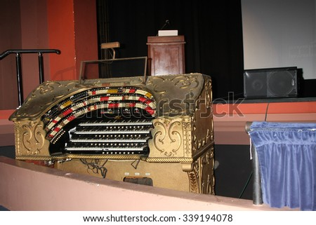 LOS ANGELES - SEP 25:  Page Organ at the Catalina Film Festival Friday Evening Gala at the Avalon Theater on September 25, 2015 in Avalon, CA - stock photo