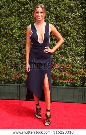 LOS ANGELES - SEP 12:  Renee Bargh at the Primetime Creative Emmy Awards Arrivals at the Microsoft Theater on September 12, 2015 in Los Angeles, CA - stock photo