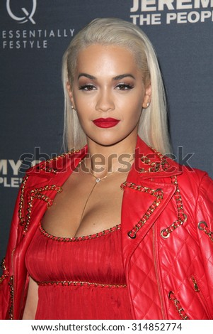 """LOS ANGELES - SEP 8:  Rita Ora at the """"Jeremy Scott: The People's Designer"""" World Premiere at the TCL Chinese Theater on September 8, 2015 in Los Angeles, CA - stock photo"""