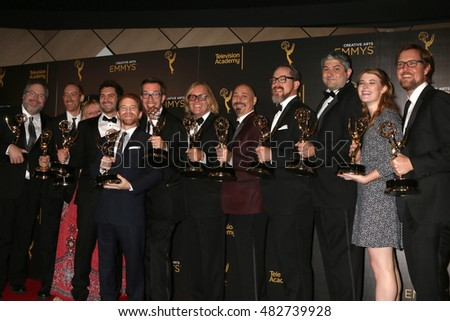 LOS ANGELES - SEP 11:  Robot Chicken Producers, Seth Green at the 2016 Primetime Creative Emmy Awards - Day 2 - Arrivals at the Microsoft Theater on September 11, 2016 in Los Angeles, CA