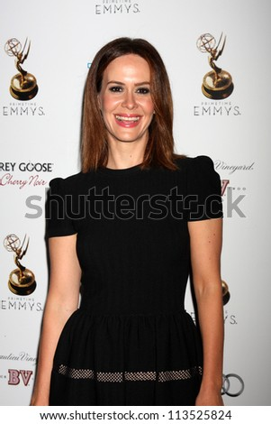 LOS ANGELES - SEP 21:  Sarah Paulson arrives at the Primetime Emmys Performers Nominee Reception at Spectra by Wolfgang Puck on September 21, 2012 in Los Angeles, CA - stock photo