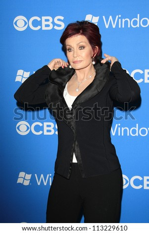 LOS ANGELES - SEP 18: Sharon Osbourne at the CBS 2012 Fall Premiere party at Greystone Manor on September 18, 2012 in Los Angeles, California - stock photo