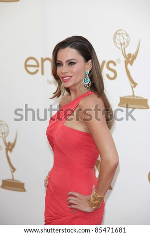 LOS ANGELES - SEP 18: Sofia Vergara at the 63rd Annual Primetime Emmy Awards held at Nokia Theater L.A. LIVE on September 18, 2011 in Los Angeles, California - stock photo