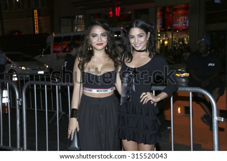 "LOS ANGELES - SEP 8:  Stella Hudgens, Vanessa Hudgens at the ""Jeremy Scott: The People's Designer"" World Premiere at the TCL Chinese Theater on September 8, 2015 in Los Angeles, CA"