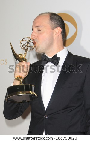 LOS ANGELES - SEP 22: Tony Hale in the press room during the 65th Annual Primetime Emmy Awards held at Nokia Theater L.A. Live on September 22, 2013 in Los Angeles, California