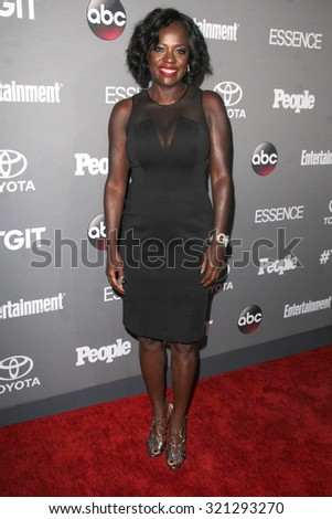 LOS ANGELES - SEP 26:  Viola Davis at the TGIT 2015 Premiere Event Red Carpet at the Gracias Madre on September 26, 2015 in Los Angeles, CA - stock photo
