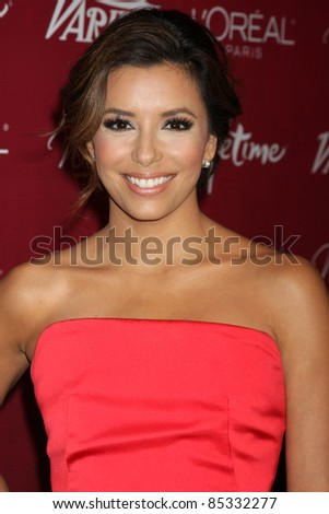 LOS ANGELES - SEPT 23:  Eva Longoria arriving at the Variety's Power of Women Luncheon at Beverly Wilshire Hotel on September 23, 2011 in Beverly Hills, CA - stock photo