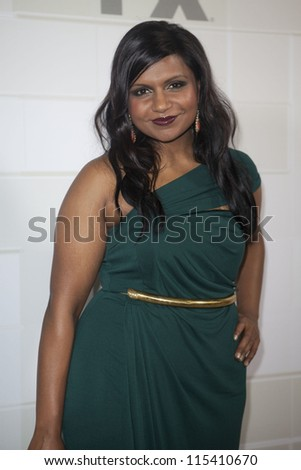 LOS ANGELES - SEPT 23: Mindy Kaling attends the Twentieth Century FOX Television and FX 2012 Post Emmy party at Soleto on September 23, 2012 in Los Angeles, California. - stock photo