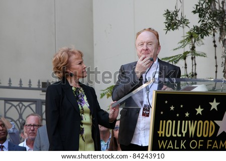 LOS ANGELES - SEPT 7:  Phil Everly, Peter Asher at the Buddy Holly Walk of Fame Ceremony at the Hollywood Walk of Fame on September 7, 2011 in Los Angeles, CA - stock photo
