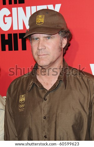 LOS ANGELES - SEPTEMBER 8: Actor Will Ferrell arrives at the premiere of The Virginity HIt  at the Regal Cinemas at LA Live September 8, 2010 in Los Angeles - stock photo