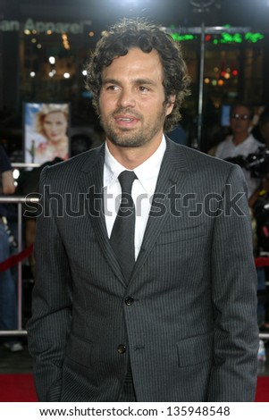 LOS ANGELES - SEPTEMBER 08: Mark Ruffalo at Just Like Heaven Premiere in Grauman's Chinese Theater September 08, 2005 in Los Angeles, CA. - stock photo