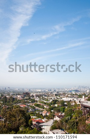 Los Angeles skyscrapers - stock photo