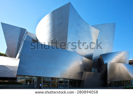 Los Angeles, U.S.A. - May 31 2011: Downtown, the Walt Disney Concert Hall