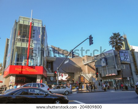 LOS ANGELES, USA - FEBRUARY 01, 2013: Madame Tussauds museum in Los Angeles California