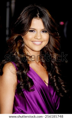 """LOS ANGELES, USA - FEBRUARY 8: Selena Gomez at the Los Angeles Premiere of """"Justin Bieber: Never Say Never"""" held at the Nokia Theatre L.A. Live in Los Angeles, USA on February 8, 2011. - stock photo"""