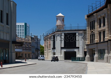 Los Angeles, USA -July 1,2011:Warner Brothers Studios in Burbank,Los Angeles. The historic 110-acre lot include 29 soundstages, plus a 20-acre backlot - stock photo