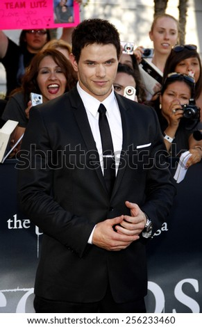 "LOS ANGELES, USA - JUNE 24: Kellan Lutz at the Los Angeles Premiere of ""The Twilight Saga: Eclipse"" held at the Nokia LA Live Theater in Los Angeles, USA on June 24, 2010. - stock photo"