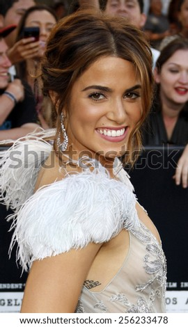 "LOS ANGELES, USA - JUNE 24: Nikki Reed at the Los Angeles Premiere of ""The Twilight Saga: Eclipse"" held at the Nokia LA Live Theater in Los Angeles, USA on June 24, 2010. - stock photo"