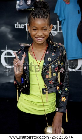 "LOS ANGELES, USA - JUNE 24: Willow Smith at the Los Angeles Premiere of ""The Twilight Saga: Eclipse"" held at the Nokia LA Live Theater in Los Angeles, USA on June 24, 2010. - stock photo"