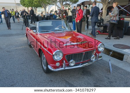 Los Angeles, USA - November 18, 2015:  FIAT Cabriolet 1200 1963 car on display during the 2015 Los Angeles Auto Show.