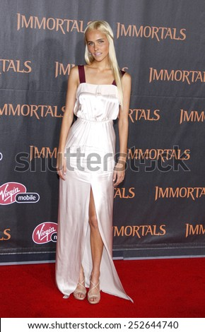 "LOS ANGELES, USA - NOVEMBER 7: Isabel Lucas at the World Premiere of ""Immortals"" held at Nokia LA Live in Los Angeles, USA on November 7, 2011."