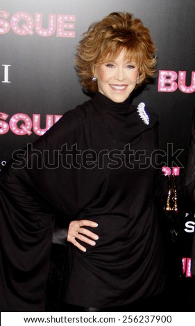 "LOS ANGELES, USA - NOVEMBER 15: Jane Fonda at the Los Angeles Premiere of ""Burlesque"" held at the Grauman's Chinese Theatre in Hollywood, USA on November 15, 2010. - stock photo"
