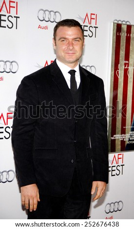 "LOS ANGELES, USA - NOVEMBER 3: Liev Schreiber  at the AFI Fest 2011 Opening Night Gala World Premiere Of ""J. Edgar"" held at Grauman's Chinese Theater in Hollywood, USA on November 3, 2011."